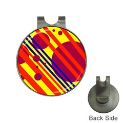 Hot circles and lines Hat Clips with Golf Markers