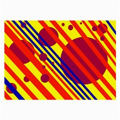 Hot circles and lines Large Glasses Cloth (2-Side)