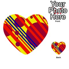 Hot circles and lines Multi-purpose Cards (Heart)
