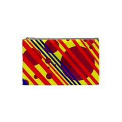 Hot circles and lines Cosmetic Bag (Small)