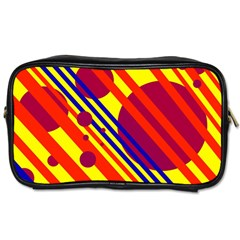Hot circles and lines Toiletries Bags 2-Side