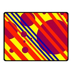 Hot circles and lines Fleece Blanket (Small)