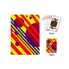 Hot circles and lines Playing Cards (Mini)