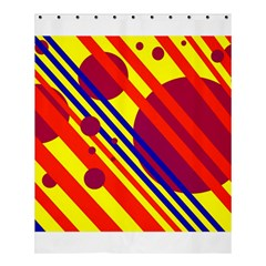 Hot circles and lines Shower Curtain 60  x 72  (Medium)