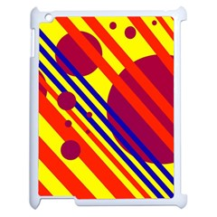 Hot circles and lines Apple iPad 2 Case (White)