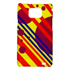 Hot circles and lines Samsung Galaxy S2 i9100 Hardshell Case
