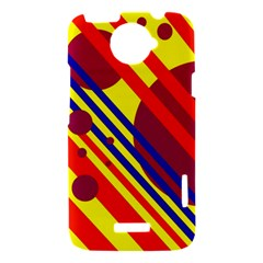 Hot circles and lines HTC One X Hardshell Case