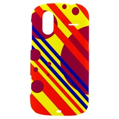 Hot circles and lines HTC Amaze 4G Hardshell Case