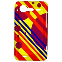 Hot circles and lines HTC Incredible S Hardshell Case
