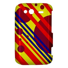 Hot circles and lines HTC Wildfire S A510e Hardshell Case