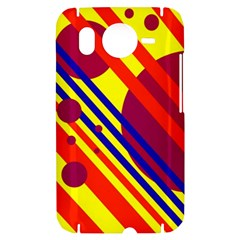 Hot circles and lines HTC Desire HD Hardshell Case