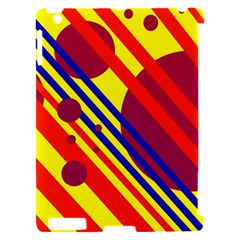 Hot circles and lines Apple iPad 2 Hardshell Case (Compatible with Smart Cover)