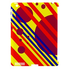 Hot circles and lines Apple iPad 3/4 Hardshell Case (Compatible with Smart Cover)