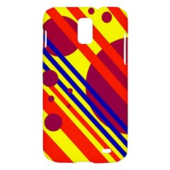 Hot circles and lines Samsung Galaxy S II Skyrocket Hardshell Case