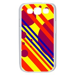 Hot circles and lines Samsung Galaxy S III Case (White)