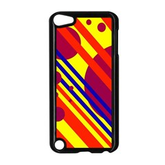 Hot circles and lines Apple iPod Touch 5 Case (Black)