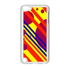 Hot circles and lines Apple iPod Touch 5 Case (White)