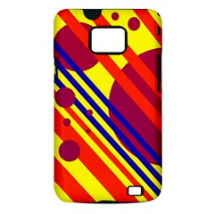 Hot circles and lines Samsung Galaxy S II i9100 Hardshell Case (PC+Silicone)