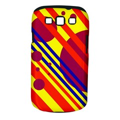 Hot circles and lines Samsung Galaxy S III Classic Hardshell Case (PC+Silicone)