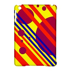 Hot circles and lines Apple iPad Mini Hardshell Case (Compatible with Smart Cover)