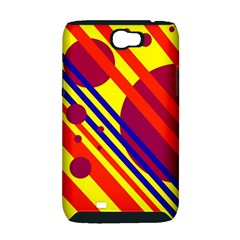Hot circles and lines Samsung Galaxy Note 2 Hardshell Case (PC+Silicone)