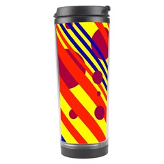 Hot circles and lines Travel Tumbler