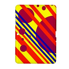 Hot circles and lines Samsung Galaxy Tab 2 (10.1 ) P5100 Hardshell Case