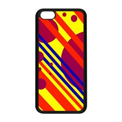 Hot circles and lines Apple iPhone 5C Seamless Case (Black)