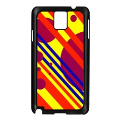 Hot circles and lines Samsung Galaxy Note 3 N9005 Case (Black)