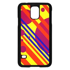 Hot circles and lines Samsung Galaxy S5 Case (Black)