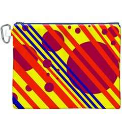 Hot circles and lines Canvas Cosmetic Bag (XXXL)