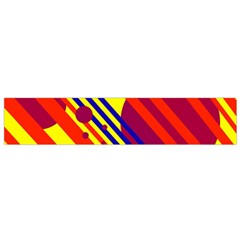 Hot circles and lines Flano Scarf (Small)