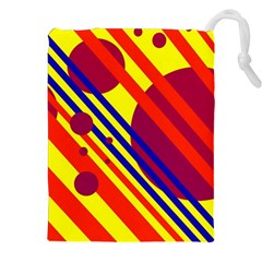 Hot circles and lines Drawstring Pouches (XXL)