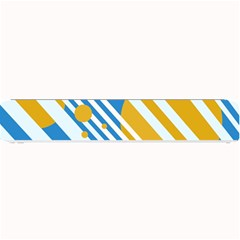 Blue, yellow and white lines and circles Small Bar Mats