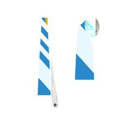 Blue, yellow and white lines and circles Neckties (Two Side)