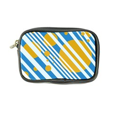 Blue, yellow and white lines and circles Coin Purse