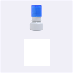 Blue, yellow and white lines and circles Rubber Round Stamps (Small)