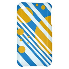 Blue, yellow and white lines and circles Apple iPhone 3G/3GS Hardshell Case