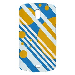 Blue, yellow and white lines and circles Samsung Galaxy Nexus i9250 Hardshell Case