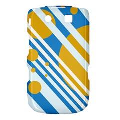 Blue, yellow and white lines and circles Torch 9800 9810