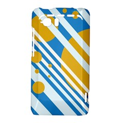 Blue, yellow and white lines and circles HTC Vivid / Raider 4G Hardshell Case