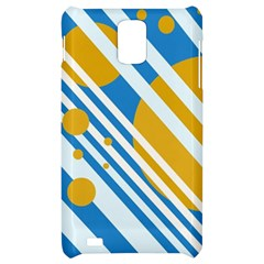 Blue, yellow and white lines and circles Samsung Infuse 4G Hardshell Case