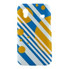 Blue, yellow and white lines and circles Samsung Galaxy Ace S5830 Hardshell Case