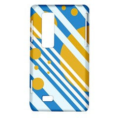 Blue, yellow and white lines and circles LG Optimus Thrill 4G P925