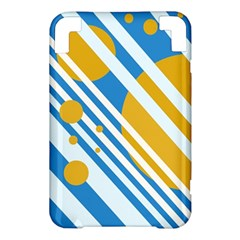 Blue, yellow and white lines and circles Kindle 3 Keyboard 3G