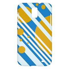 Blue, yellow and white lines and circles Samsung Galaxy S II Skyrocket Hardshell Case