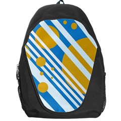 Blue, yellow and white lines and circles Backpack Bag