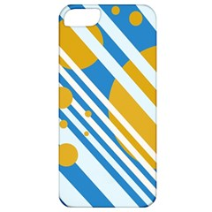 Blue, yellow and white lines and circles Apple iPhone 5 Classic Hardshell Case