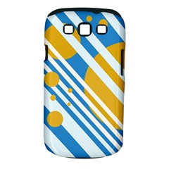 Blue, yellow and white lines and circles Samsung Galaxy S III Classic Hardshell Case (PC+Silicone)