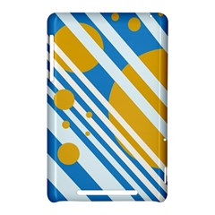 Blue, yellow and white lines and circles Nexus 7 (2012)